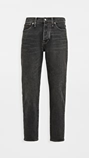 Madewell Tapered Crop Jeans In Washed Black