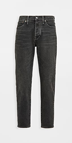 Madewell - Tapered Crop Jeans In Washed Black