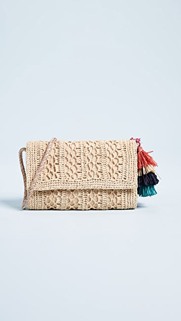 Mar Y Sol Anabel Crochet Cross Body Bag - Natural