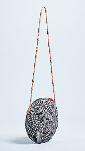 Mar Y Sol Louisa Raffia Cross Body Bag