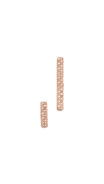 Maha Lozi Fine Line Earrings