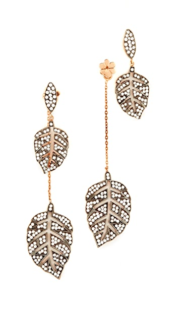 Maha Lozi Farmers Leaf Earrings