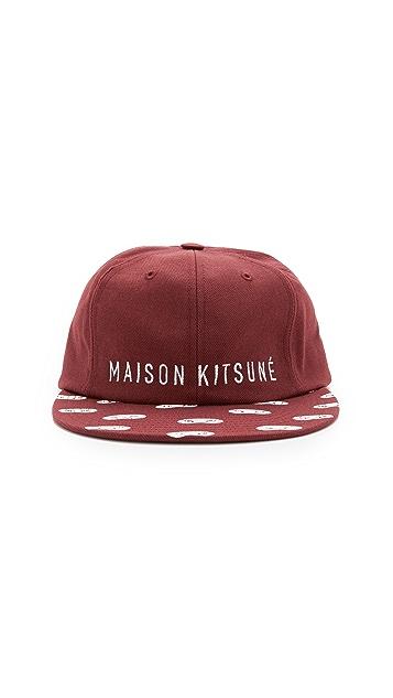 Maison Kitsune Eyes Baseball Cap