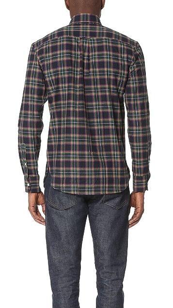 Maison Kitsune Tartan Check Classic Shirt
