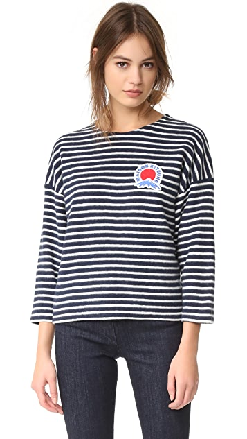 Maison Kitsune Marin Cropped Sweatshirt