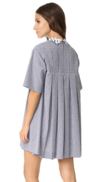 Maison Kitsune Sara Pleated Dress
