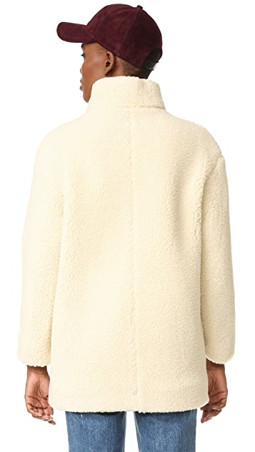 Maison Kitsune Sherpa Tama Coat