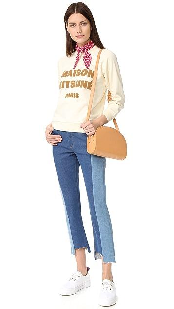 Maison Kitsune Logo Printed Sweatshirt