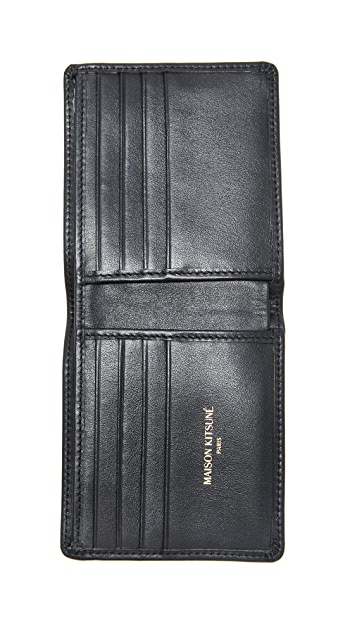 Maison Kitsune Tricolor Fox Leather Wallet