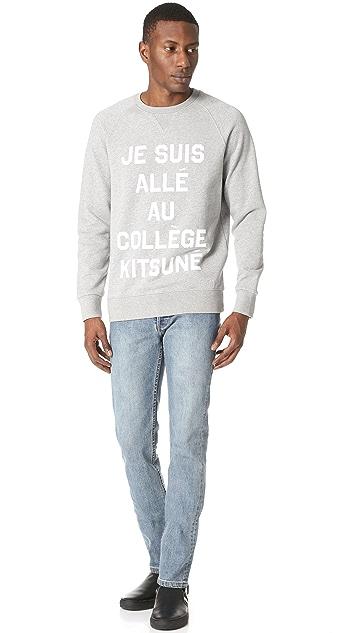 Maison Kitsune Je Suis Alle Sweatshirt
