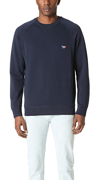 Maison Kitsune Tricolor Fox Patch Sweatshirt