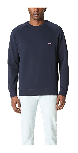 Maison Kitsune - Tricolor Fox Patch Sweatshirt