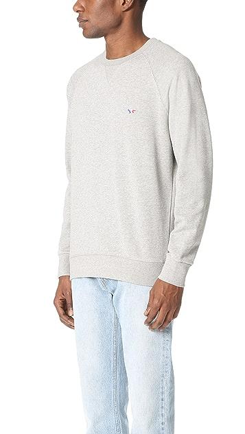Maison Kitsune Tricolor Fox Patch Sweatshirt