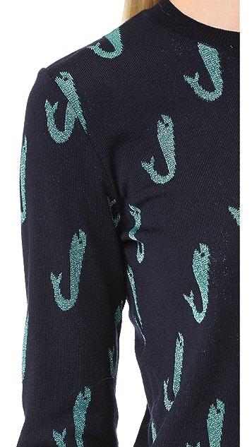 Maison Kitsune Jacquard Fish Pullover