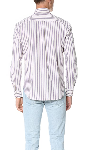 Maison Kitsune Striped Classic Shirt