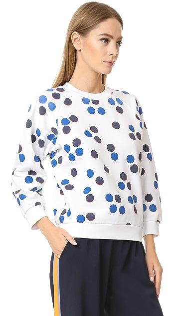 Maison Kitsune Allover Dot Sweatshirt