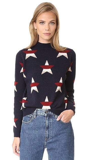Maison Kitsune Allover Stars Pullover