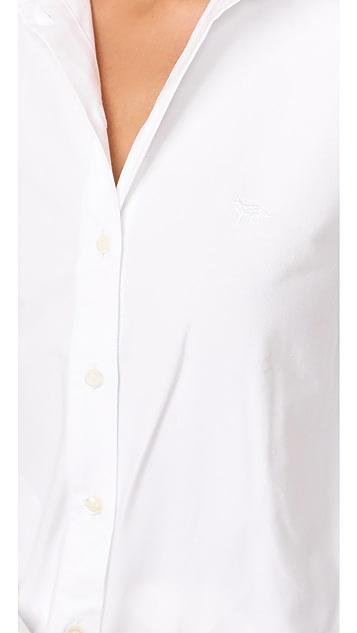 Maison Kitsune Oxford Fox Embroidery Classic Shirt