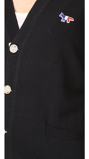 Maison Kitsune Virgin Wool Classic Cardigan