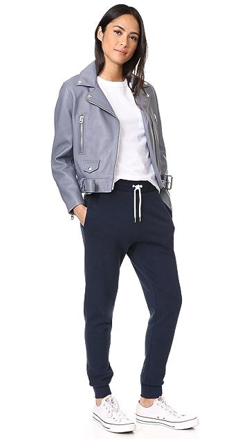 Maison Kitsune Tricolor Fox Patch Classic Jogger Pants