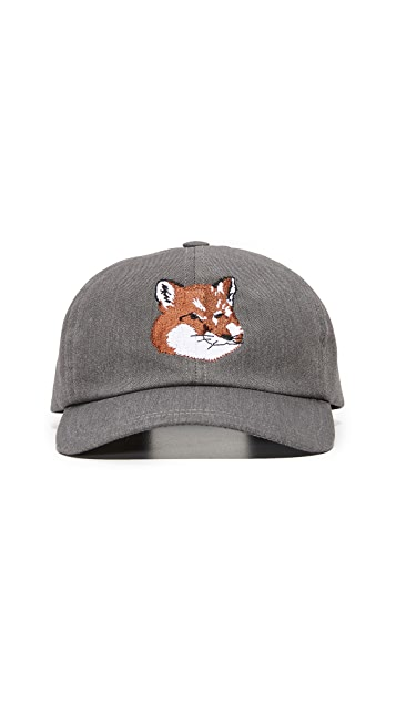 Maison Kitsune Fox Head 6 Panel Cap