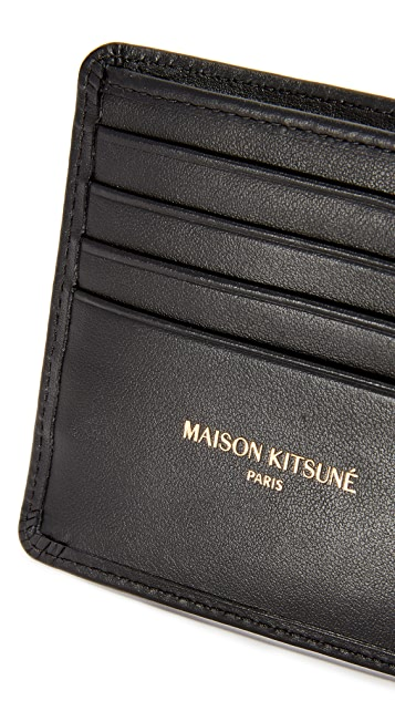 Maison Kitsune Tricolor Fox Wallet