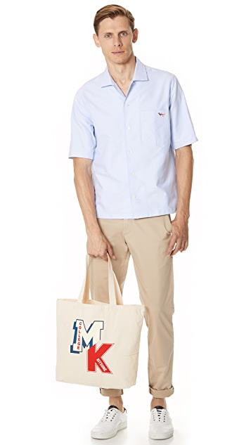 Maison Kitsune MK College Patch Tote