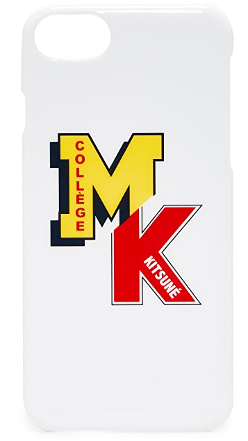 Maison Kitsune MK College Patch iPhone 7 Case