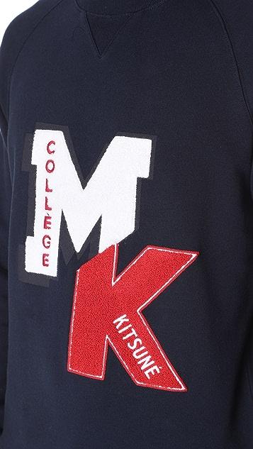 Maison Kitsune College Patch Sweatshirt