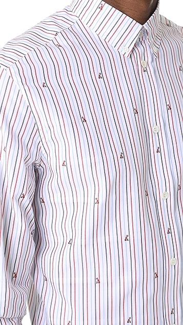 Maison Kitsune Classic Jacquard Fox Shirt