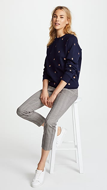 Maison Kitsune Fox Head Embroidery Sweatshirt