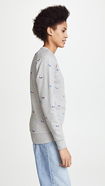 Maison Kitsune Fox Embroidery Sweatshirt