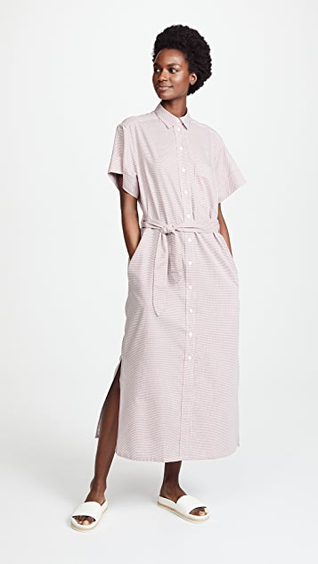 Maison Kitsune Cross Isabella Long Shirtdress