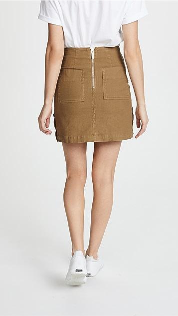 Maison Kitsune Overdyed Emma Studded Skirt