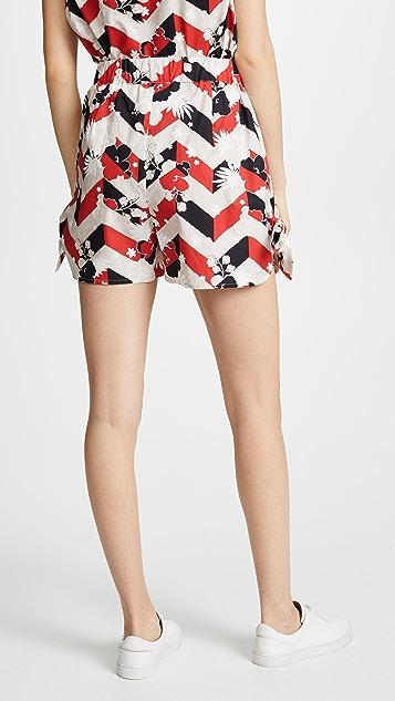 Maison Kitsune Venice Sienna Knotted Shorts