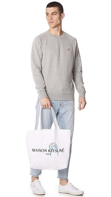 Maison Kitsune Lovebirds Tote Bag