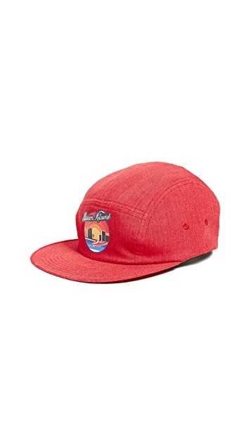 Maison Kitsune 5 Panel Sunset Cap