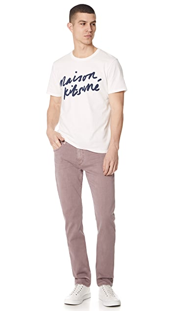 Maison Kitsune Short Sleeve Handwriting T-Shirt