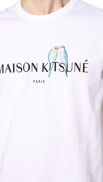 Maison Kitsune Lovebirds Tee