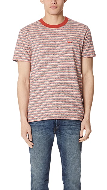 Maison Kitsune Surf Stripes Tee