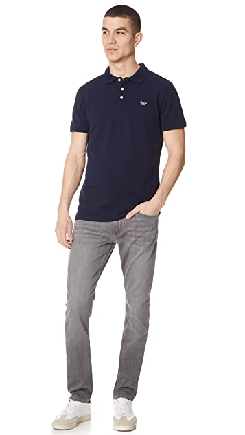 Maison Kitsune Par Perm Polo Shirt with Tricolor Fox Patch