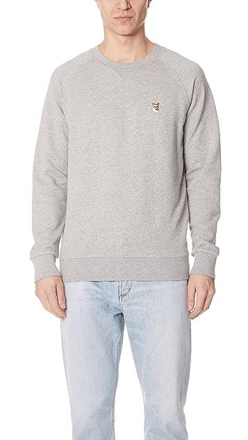 Maison Kitsune Long Sleeve Fox Head Patch Sweatshirt
