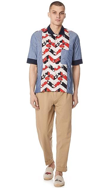 Maison Kitsune Venice Patched Shirt