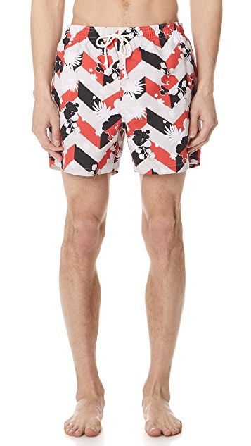 Maison Kitsune Venice Swim Shorts