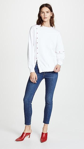Maison Kitsune Asymmetrical Sweatshirt