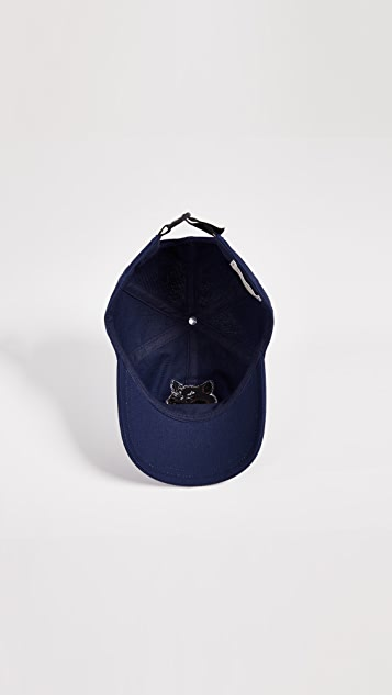 Maison Kitsune Large Fox Head Embroidery Hat