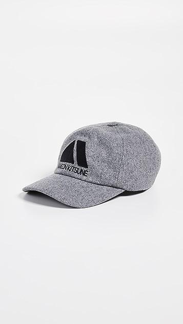 Maison Kitsune Triangle Cap