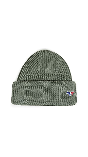 Maison Kitsune Ribbed Hat