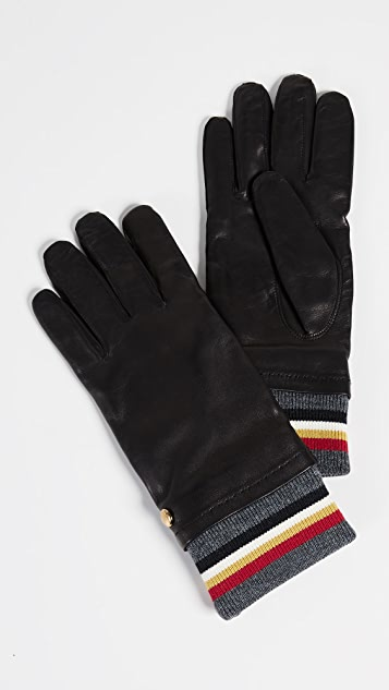 Maison Kitsune Ribbed Gloves