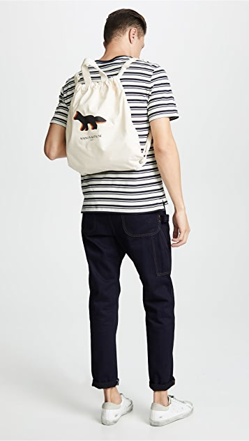 Maison Kitsune Quadri Fox Tote Backpack